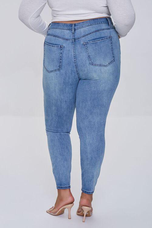 LIGHT DENIM Plus Size High-Rise Skinny Jeans, image 4