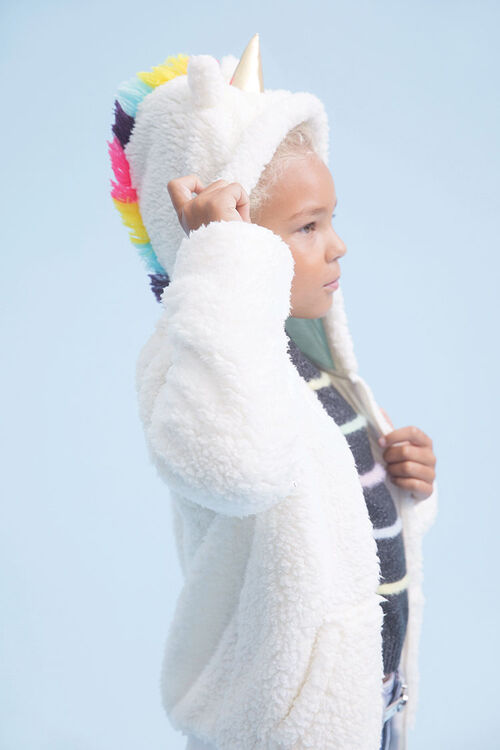 Girls Faux Shearling Unicorn Jacket (Kids), image 1