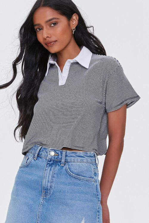 Striped Drop-Sleeve Rugby Shirt, image 1