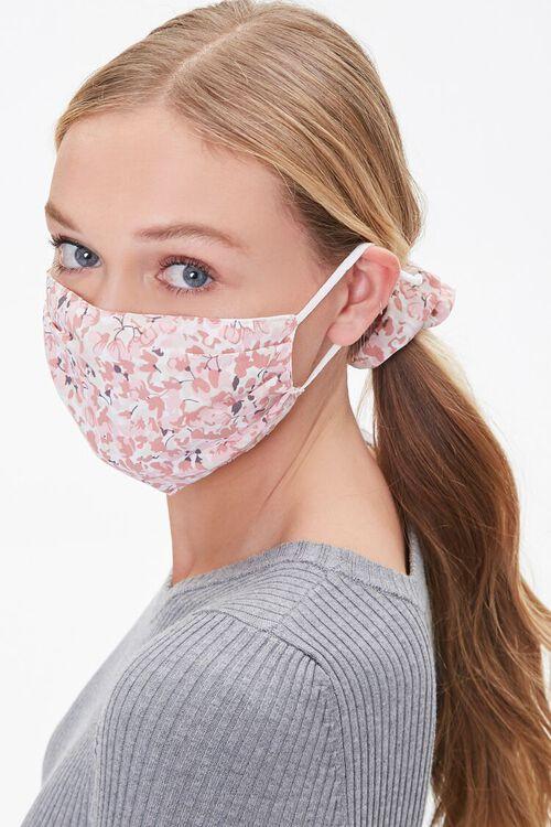 PINK/MULTI Floral Face Mask & Scrunchie Set, image 1