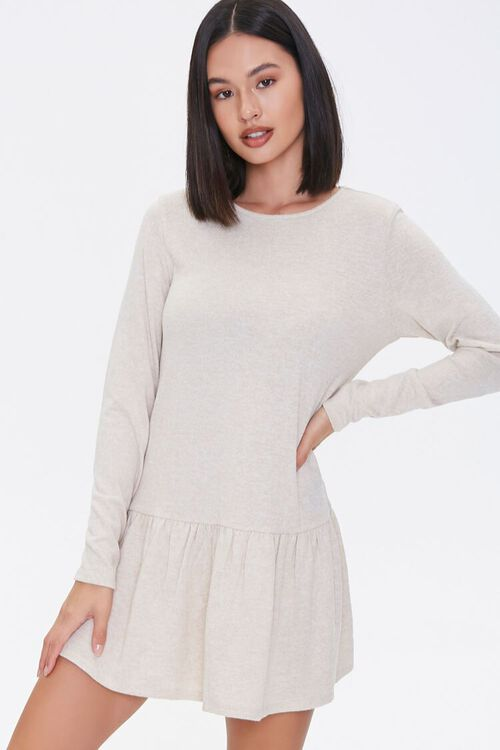 French Terry Drop Waist Dress, image 1