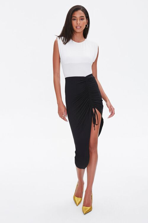 Ruched High-Low Skirt, image 5