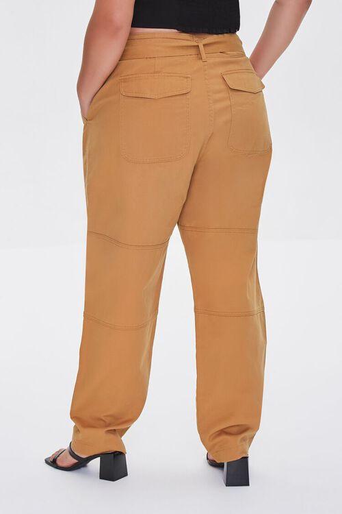Plus Size Sash-Belt Cargo Pants, image 4