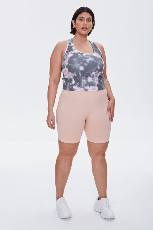 BLACK/PINK Plus Size Active Tie-Dye Tank Top, image 4