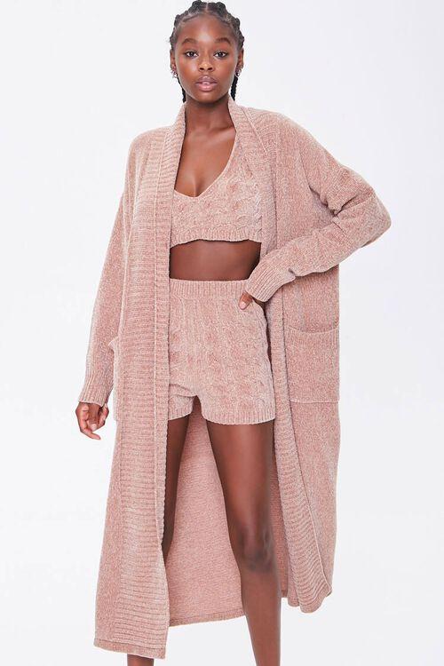 Chenille Longline Cardigan Sweater, image 5