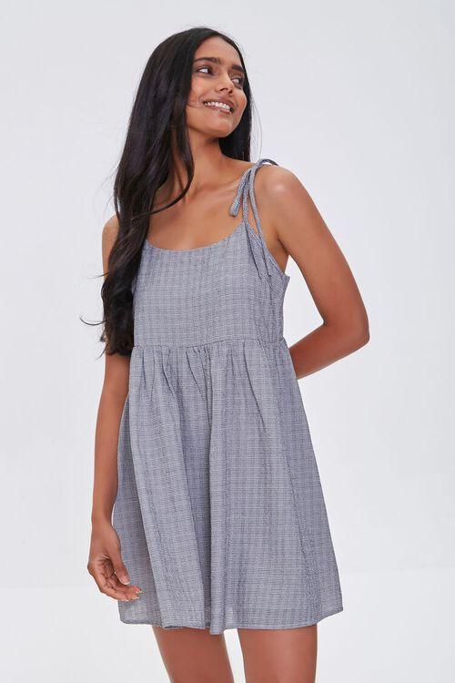IVORY/BLACK Self-Tie Cami Mini Dress, image 1