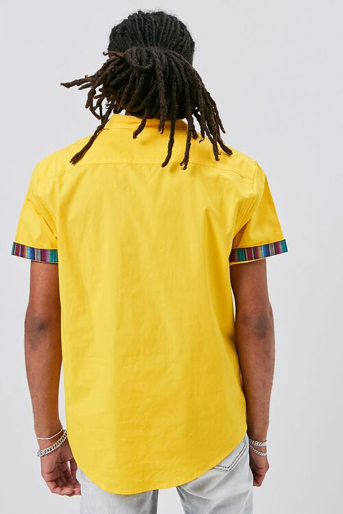 Striped-Trim Fitted Shirt, image 3
