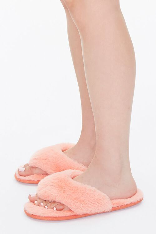 Faux Fur Thong Slippers, image 2