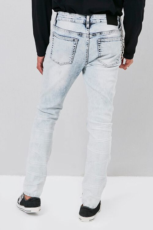 Distressed Bleach Wash Skinny Jeans, image 4