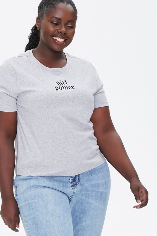 Plus Size Girl Power Graphic Tee, image 1