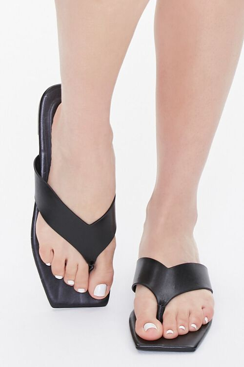 Square Thong-Toe Sandals, image 4