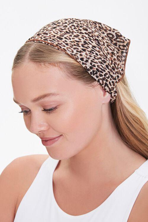 Leopard Print Headwrap, image 1