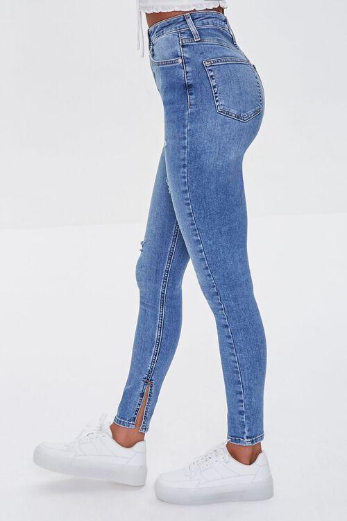 MEDIUM DENIM Premium High-Rise Skinny Jeans, image 3