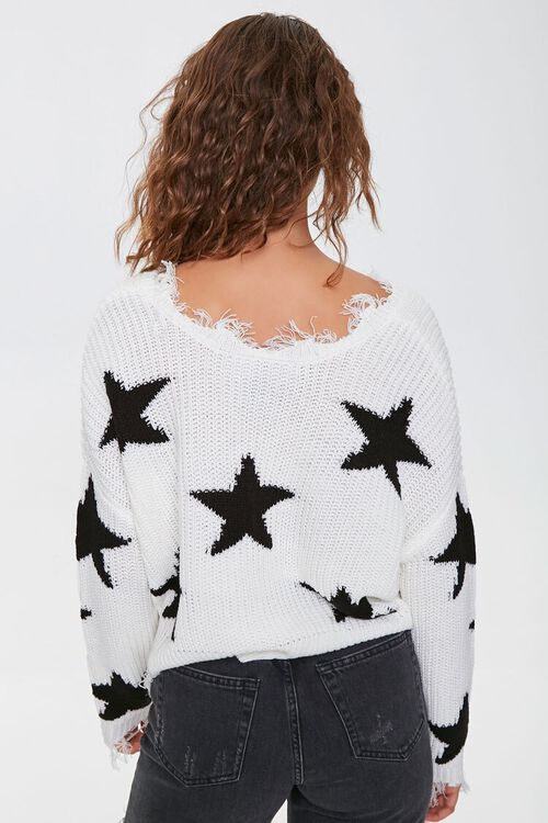 Distressed Star Print Sweater, image 3