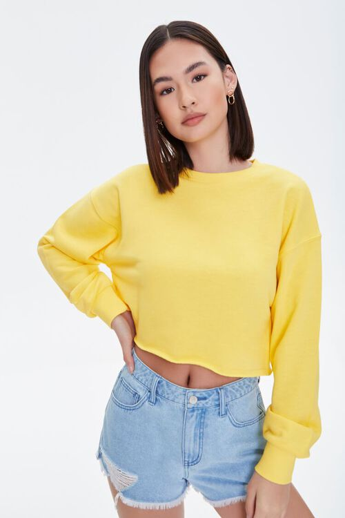 French Terry Drop-Sleeve Pullover, image 1