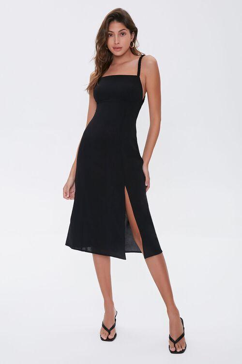 Side-Slit Cutout Cami Midi Dress, image 4