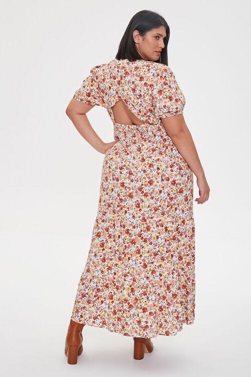Plus Size Floral Print Maxi Dress, image 2
