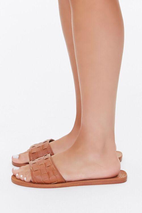 Basketwoven Slip-On Flat Sandals, image 2