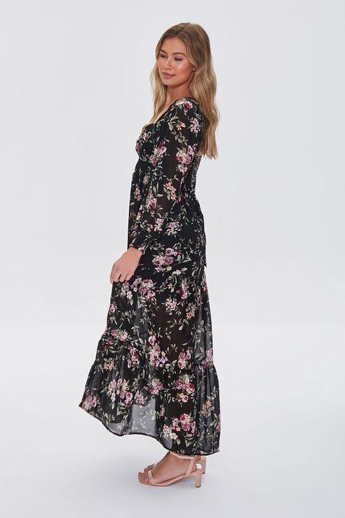 BLACK/MULTI Floral Print Maxi Dress, image 3