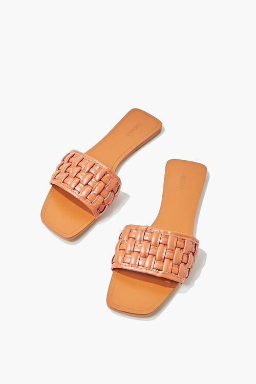 Crosshatch Square-Toe Flat Sandals, image 3