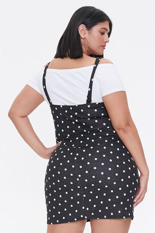 Plus Size Polka Dot Pinafore Dress, image 3