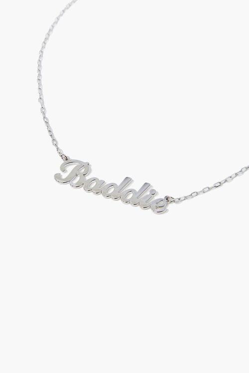 SILVER Baddie Pendant Necklace, image 1