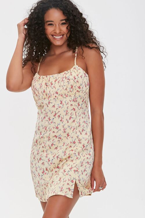 Floral Cami Mini Dress, image 1