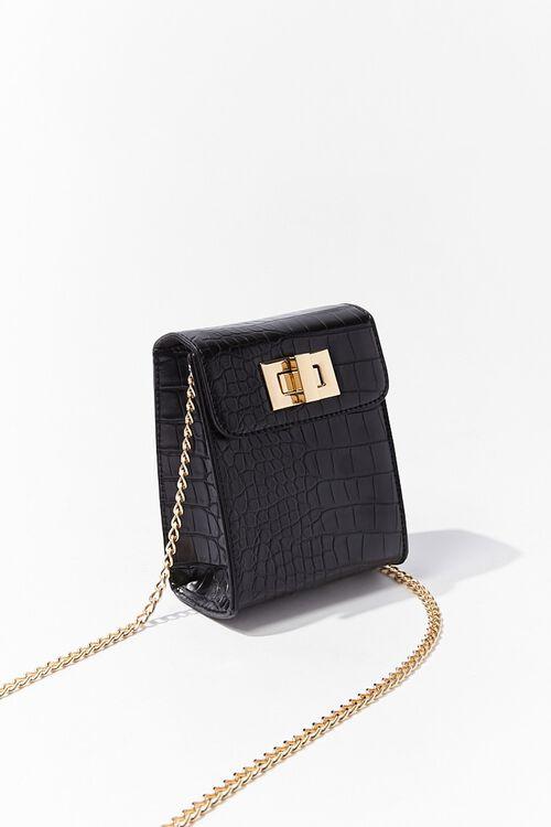 Faux Croc Leather Crossbody Bag, image 3