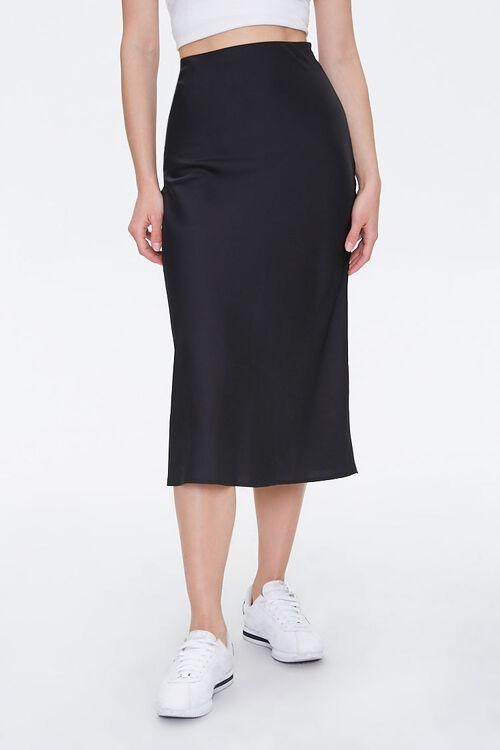 Satin Knee-Length Skirt, image 2