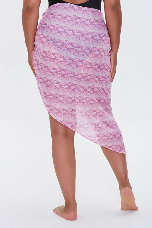 Plus Size Snake Print Swim Cover-Up Sarong, image 4
