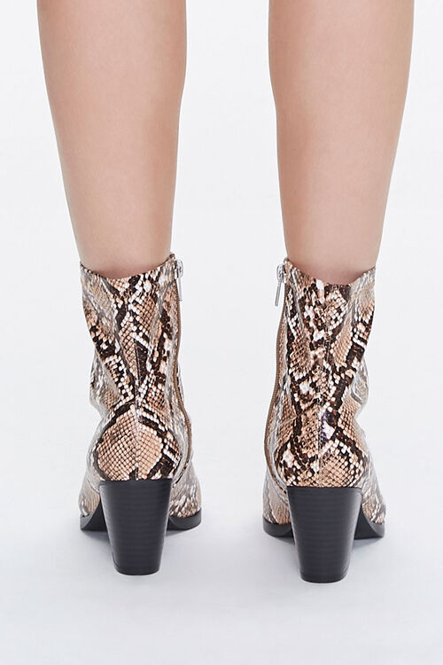 Faux Snakeskin Booties (Wide), image 3