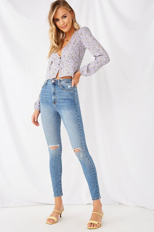 Super Skinny Distressed Jeans, image 5