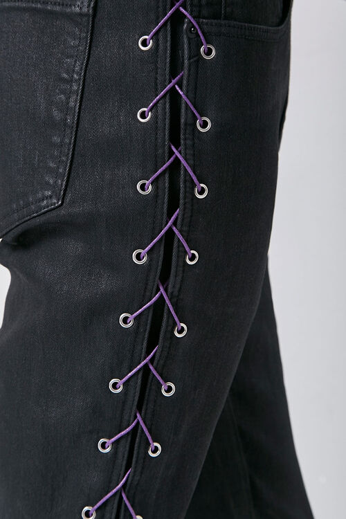 Lace-Up Skinny Jeans, image 6