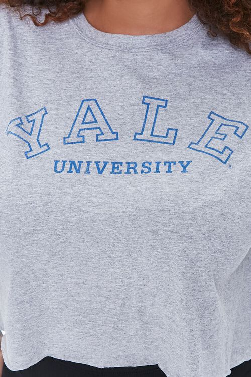 Plus Size Cropped Yale Graphic Tee, image 5