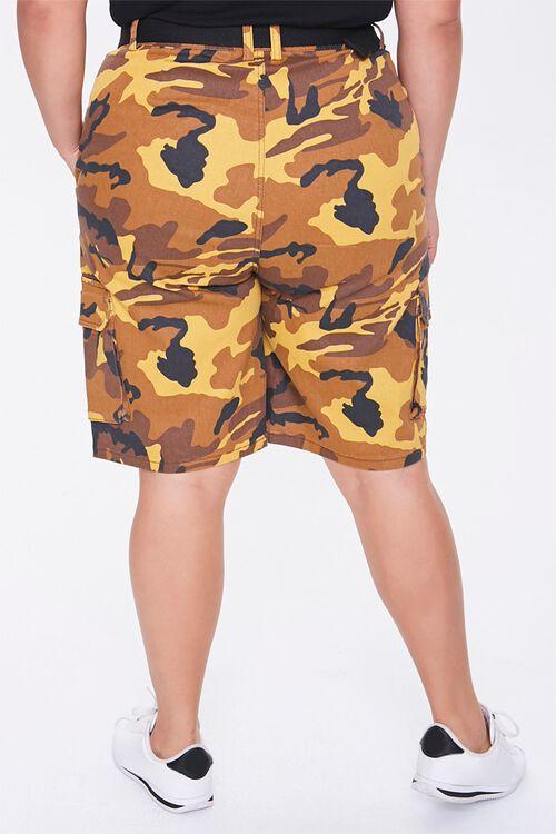 Plus Size Camo Cargo Shorts, image 4