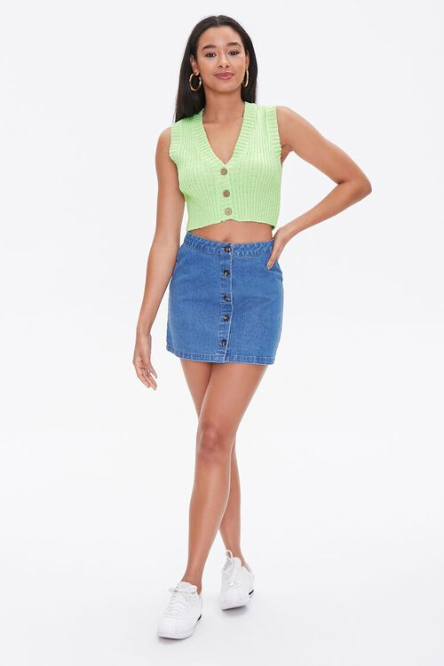 Cropped Sweater-Knit Vest, image 4