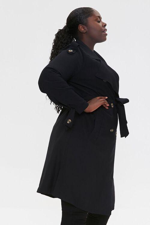 Plus Size Double-Breasted Coat, image 2