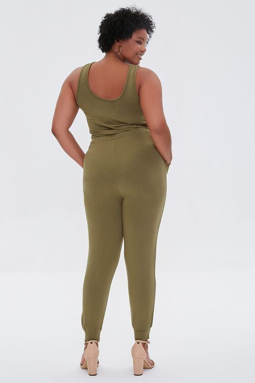 Plus Size Fleece Tank Jumpsuit, image 3