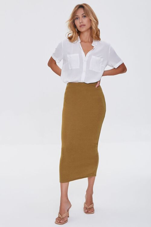 Pencil Midi Skirt, image 5
