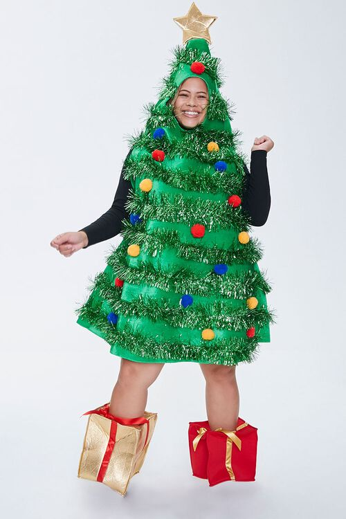 Plus Size Christmas Tree Dress, image 1