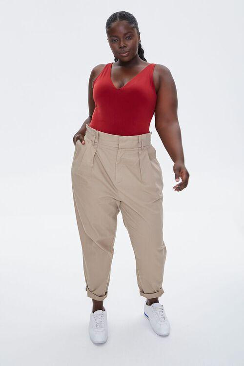 Plus Size Plunging Tank Bodysuit, image 4