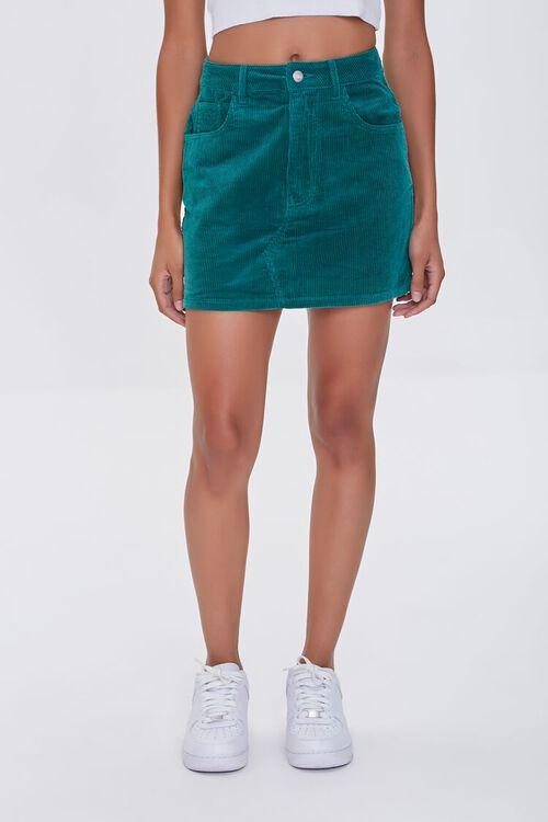 HUNTER GREEN Bongo Corduroy Skirt, image 2