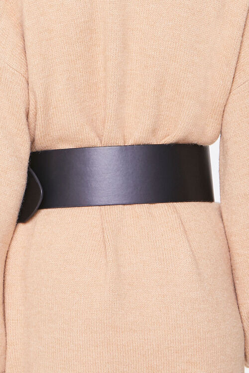 Wide Faux Leather Waist Belt, image 3