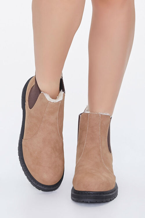 Faux Shearling Chelsea Booties, image 4