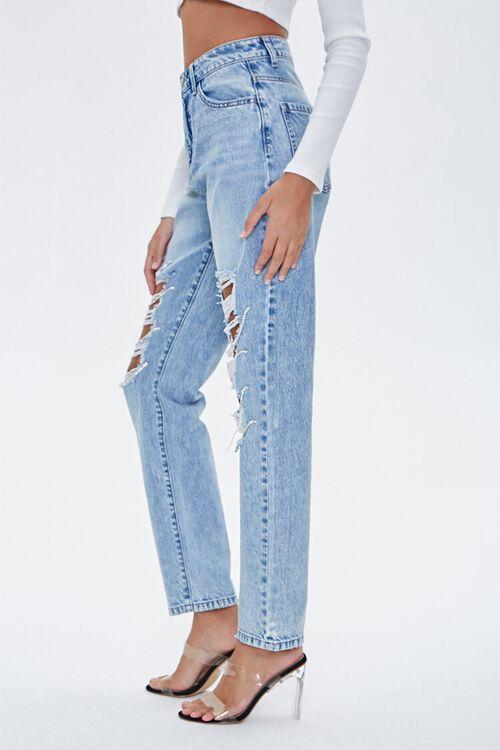 Distressed Rhinestone-Trim Jeans, image 3