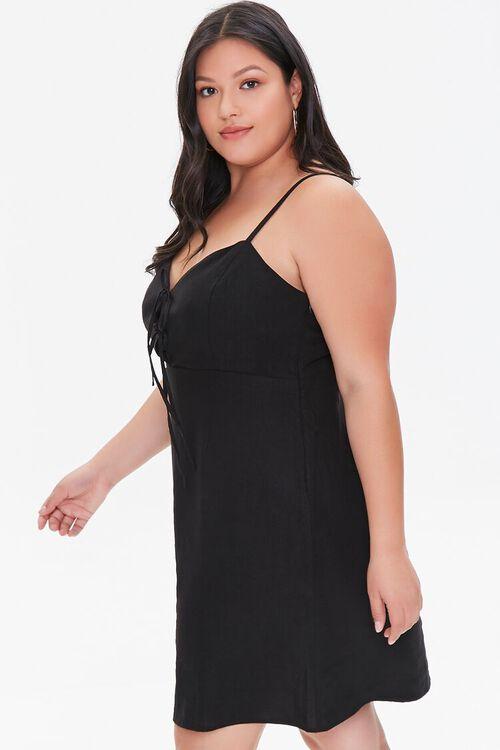 BLACK Plus Size Linen-Blend Mini Dress, image 2