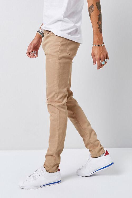 Distressed Slim-Fit Chino Pants, image 2