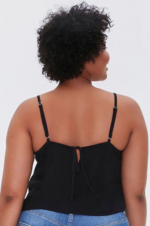 BLACK Plus Size Lace-Trim Cami, image 3