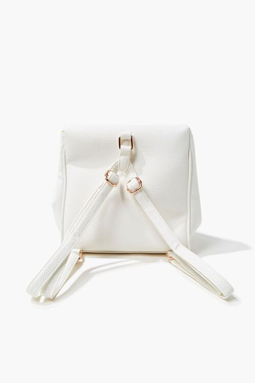 Pebbled Faux Leather Backpack, image 3