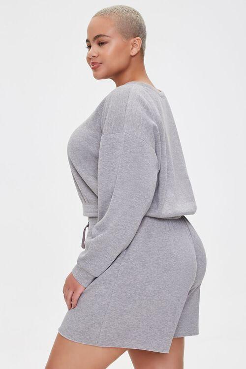 Plus Size Sweatshirt & Shorts Set, image 2